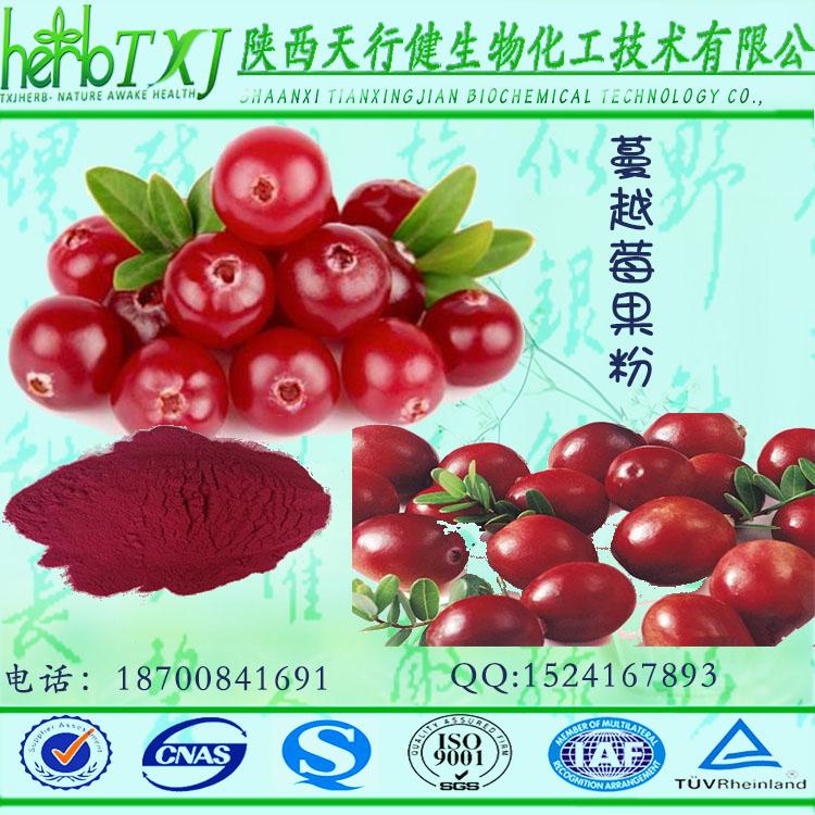 蔓越莓果粉 速溶蔓越莓果汁粉饮料 蔓越莓花青素 品质保证 QS厂家天行健现货直销 包邮